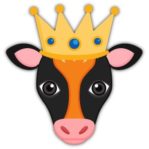 Orange Black Cow Mascot Stickers Prince King Royal Emoji Emojiart Emojitime Cowemoji Stickers Stickerart Jewels Orange Cow Emoji Black Cow White Cow