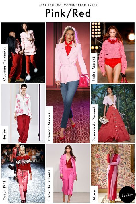Pink & Red, these are all trends from ella magazine. I'll also post what I find from vogue