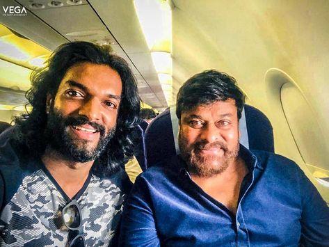 Mega Star #Chiranjeevi's Latest Clicks With Actor #Charandeep...!!  #SYeRaa #SyeRaaNarasimha