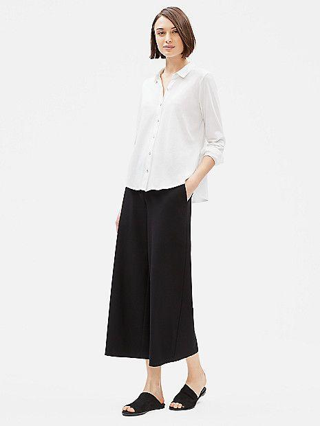 Organic Cotton Easy Jersey Shirt Eileen Fisher Organic Cotton Shirt Healthy Clothes Petite Tunic Tops