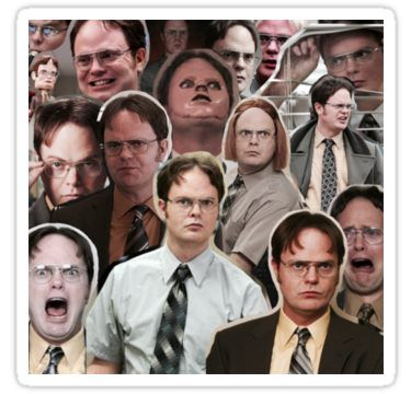 Dwight Schrute The Office Sticker By Effsdraws The Office Jim