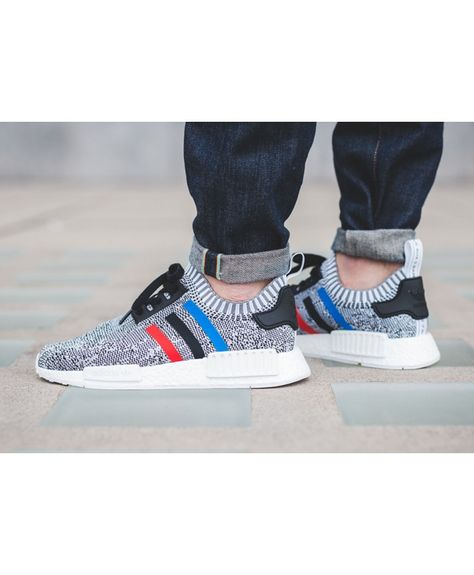 Cheap Adidas NMD R1 Tri Color Footwear White Core Red Core