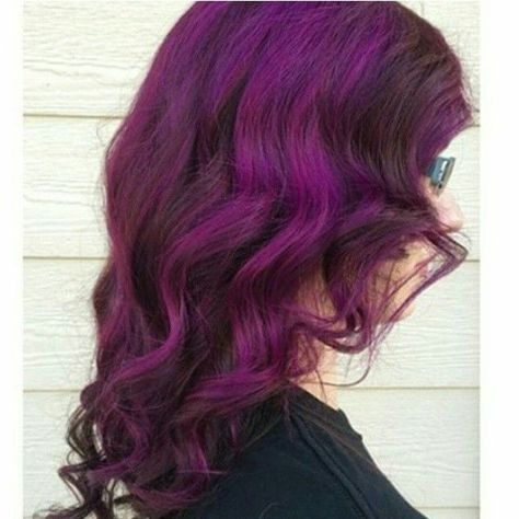 Chunky Plum Passion streaks on a dark brown base colour  #manicpanic #plumpassio