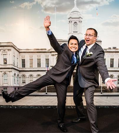NYC City Hall Gay Wedding