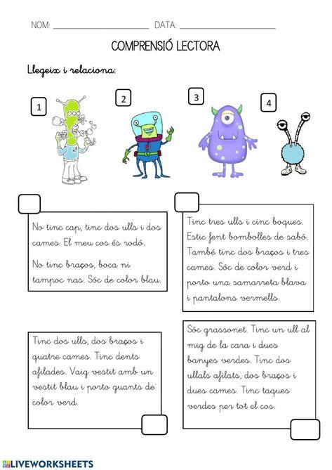 Ejercicio de Comprensió lectora-aliens
