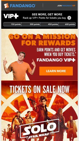 Solo A Star Wars Story Tickets On Sale Now Fandango Email