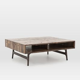 Emmerson Reclaimed Wood Block Coffee Table Natural In 2020 Coffee Table