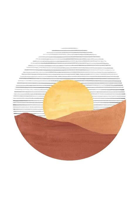 Art Inspo, Kunst Inspo, Inspiration Art, Art And Illustration, Food Illustrations, Art Minimaliste, Minimal Art, Sunset Art, Art Moderne