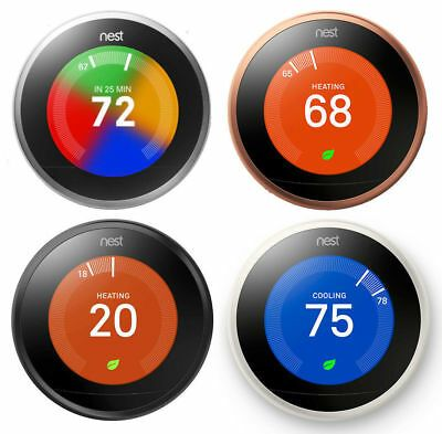 Details About Nest Learning Thermostat 3rd Generation All Colors Brand New Factory Sealed Nest Learning Thermostat Thermostat Nest Thermostat