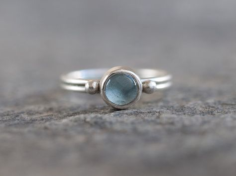 Sky blue topaz engagement or bridal ring. Romantic, dainty, antique jewelry - Topaz Sterling Silver Ring Sky Blue Topaz by MarthaLjewellery -