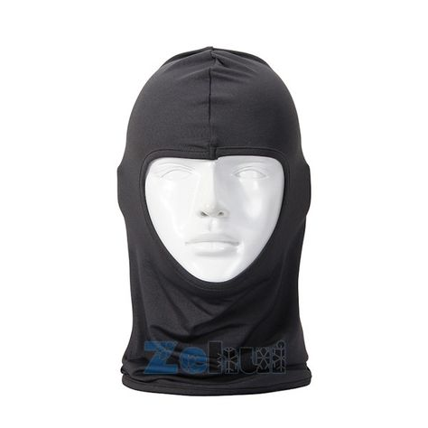 Motorcycle Biker Outdoor Mask Cycling Balaclava Full Face Neck Protector Black