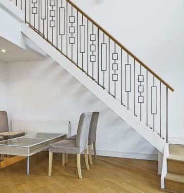 Hf16 6 3 Rectangle Tubular Steel Baluster Staircase Design | Tubular Stair Railings Design | Simple | Grill Work | Residential Industrial Stair | Welded | Stair Case Railing
