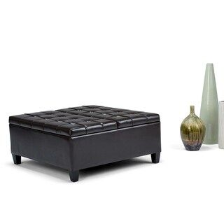 Wyndenhall Elliot 36 Inch Wide Traditional Square Storage Ottoman