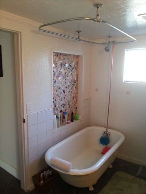 Clawfoot Tub Shower Riser.Clawfoot Bathtub Shower Curtain Holder Shower Riser Pole