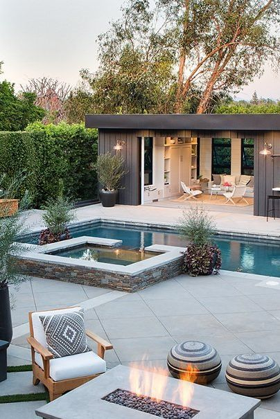 22 Pool House Design Ideas That Make Life Feel Like A Permanent Vacation Small Pool Houses Pool House Designs Pool Houses