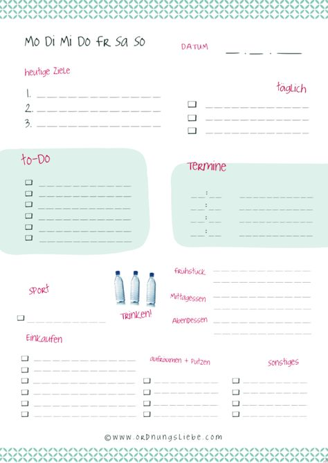 17 Best images about Kalender on Pinterest Free printable - day planner sheet