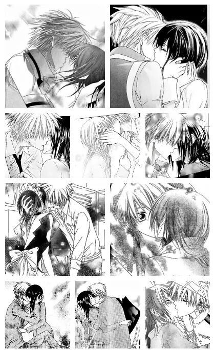 Kisses in Kaichou wa Maid sama ♡