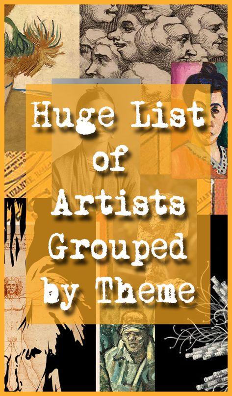 Artists & Themes - The Arty Teacher