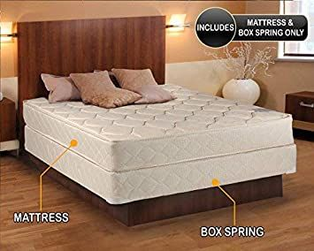 Comfort Classic Gentle Firm Twin 39 Quot X75 Quot X9 Quot Mattress And Box Spring Set Fully Assembled Ortho In 2020 Queen Mattress Size Mattress Mattress Springs