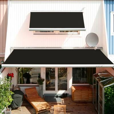 Luxury Series Electric Retractable Standard Woven Acrylic Patio Awning Patio Awning Polycarbonate Roof Panels Patio Roof