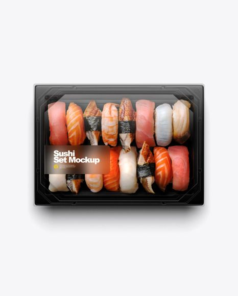 Free noodles box mockup set. Sushi Set Mockup Present Your Design On This Mockup Includes Special Layers And Smart Objects For Your Creative Works Tag Design Mockup Free Sushi Set Sushi