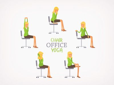 Office Chair Yoga Chair Yoga Chair Pose Yoga Yoga