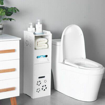 Advertisement 3 Tier Bathroom Storage Organizer Floor Cabinet With Garbage Can S In 2020 Slim Bathroom Storage Cabinet Bathroom Storage Organization Bathroom Storage