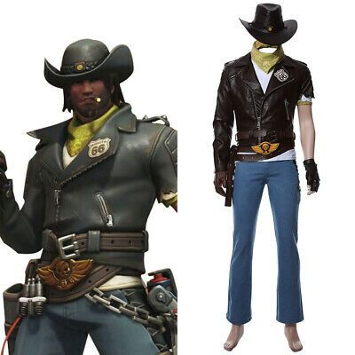OW Overwatch Jesse Mccree Deadlock McCree Skin Cosplay Costume Uniform Full Set
