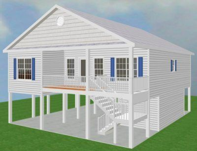 Chp 20 171 House On Stilts Stilt House Plans Craftsman House Plans