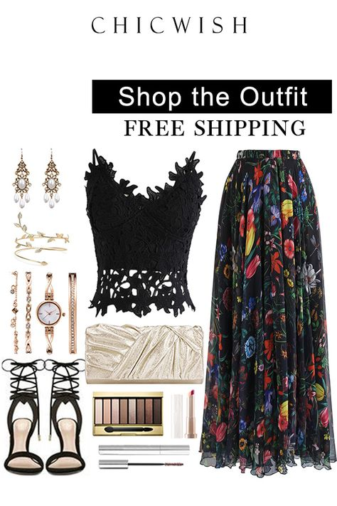 a6ec24197ff8 Up to 30% Off. Tropical Flowering Watercolor Maxi Skirt. #outfit  #womenfashion #clothing #fashion #o… | Best Seller Skirts in 2019…