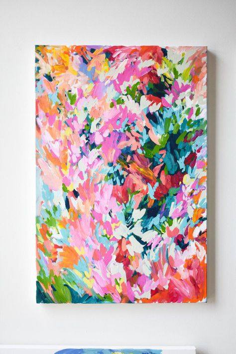 """Las Paletas Mameys"", a 24 x 36 inch original abstract painting by Taylor Lee t . - ""Las Paletas Mameys"", a 24 x 36 inch original abstract painting by Taylor Lee tayl … - Guache, Abstract Flowers, Flower Painting Abstract, Colorful Abstract Art, Colorful Artwork, Painting Inspiration, Art Projects, Art Paintings, Abstract Paintings"