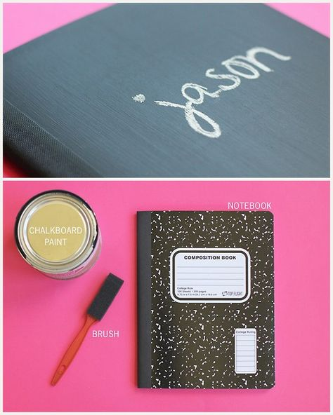 DIY Easy Cheap Composition Notebook Chalkboard Upgrade