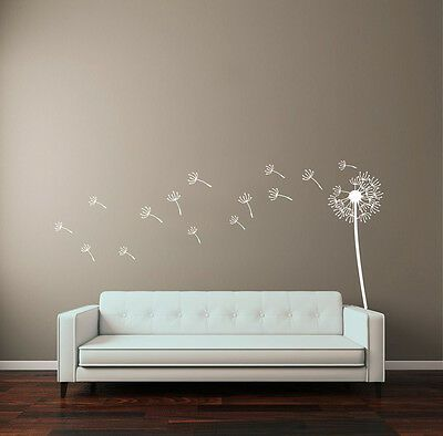 Flower Dandelion Large Vinyl Wall Art Sticker Mural Home Bedroom Decoration Fashion Home Garden Hom Dandelion Wall Art Wall Murals Bedroom Sticker Wall Art