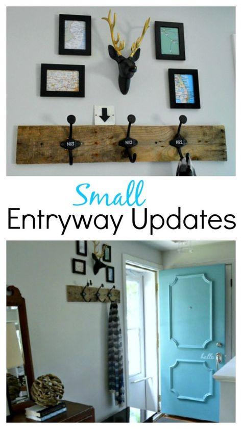 Decor updates to a small entryway. www.chatfeldcourt.com