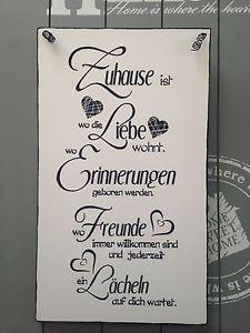 034 Zuhause 034 Wandschild Deko Shabby Vintage Shabby Vintage