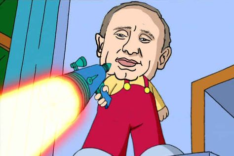 These Illustrations Of Vladimir Putin As Your Favorite Cartoon Villains Are Wonderful Cartoon Vladimir Putin Illustration