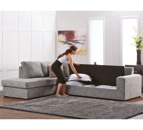 Dakota 5 Seater Modular Chaise with Storage | Bed furniture