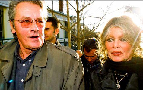 Brigitte Bardot and Alain Delon c.2000