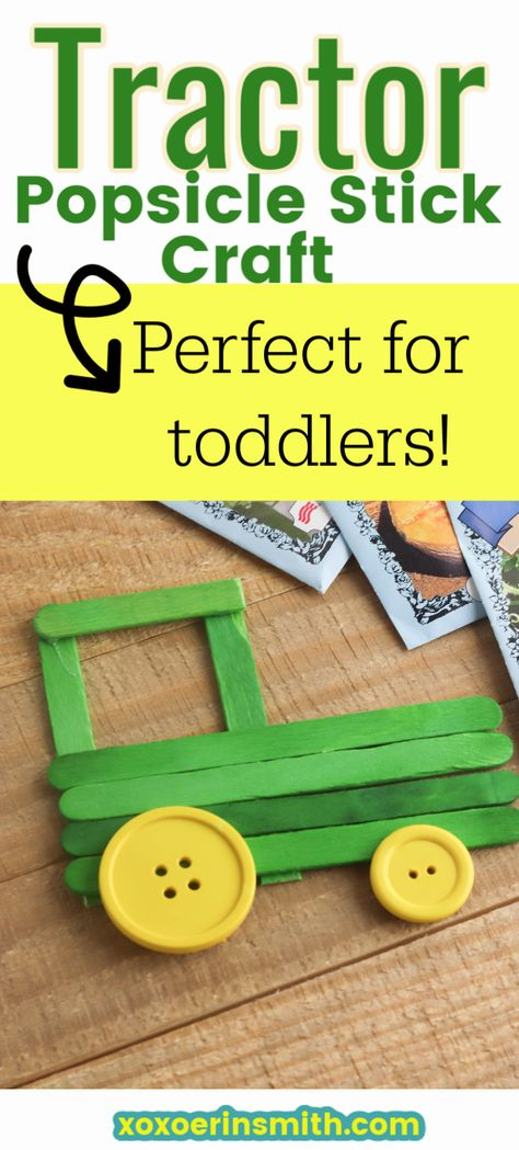 Tractors 278449189449731669 - This easy and fun tractor popsicle stick craft is perfect for toddlers. Minimal steps and so much fun to craft with your child. Source by xoxoerinsmith Daycare Crafts, Crafts For Boys, Craft Activities For Kids, Preschool Crafts, Art For Kids, Craft Ideas, Popsicle Stick Art, Popsicle Stick Crafts For Kids, Craft Stick Crafts