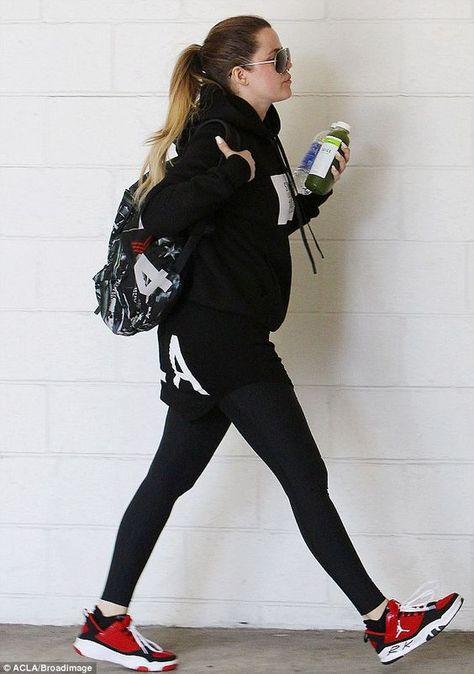 khloe kardashian wearing jordans