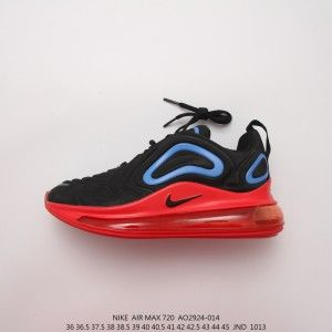 Nike Air Max 720 Black Hyper Royal Challenge Red University Gold
