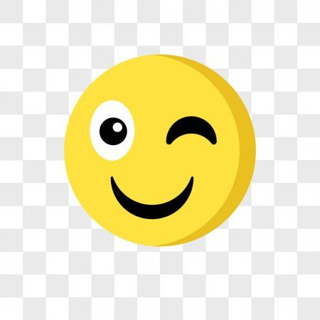 Wink Emoji Vector Icon Isolated On Transparent Background Wink Stock V Spon Vector Icon Wink Emoji Ad In 2020 Winking Emoji Vector Icons Emoji