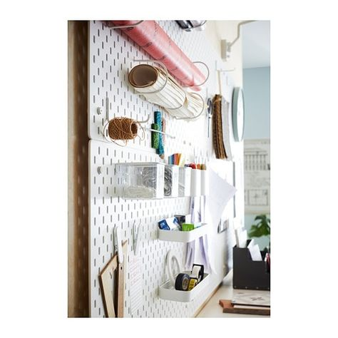 Skadis Pegboard White Ikea Wall Storage Ikea Pegboard Craft Room