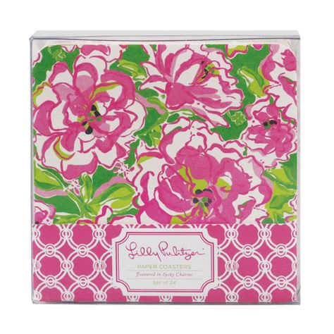 Lilly Pulitzer Paper Coasters - Lucky Charms Green   Lifeguard Press $12