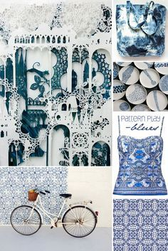 Pattern Play blue all day.