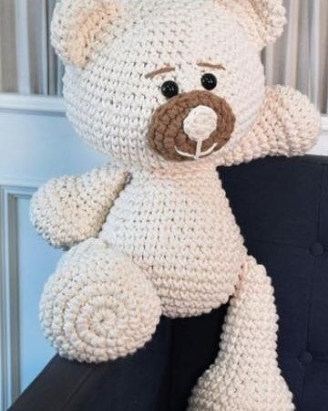 Lovely Teddy Bear Amigurumi - Tutorial | Tutorial de crochê ... | 450x360