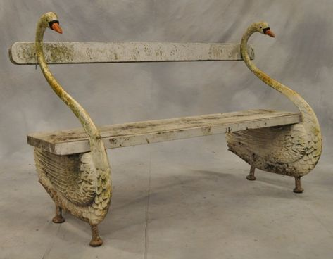 Fantastic Simena Banc En Fonte Au Motif De Cygnes Libro De Uwap Interior Chair Design Uwaporg