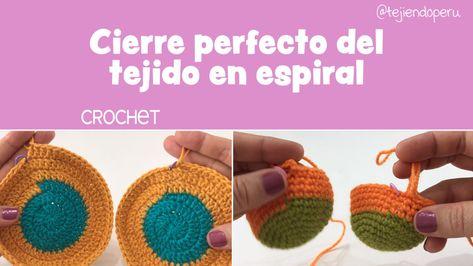 Acabado perfecto al terminar de tejer en espiral a crochet
