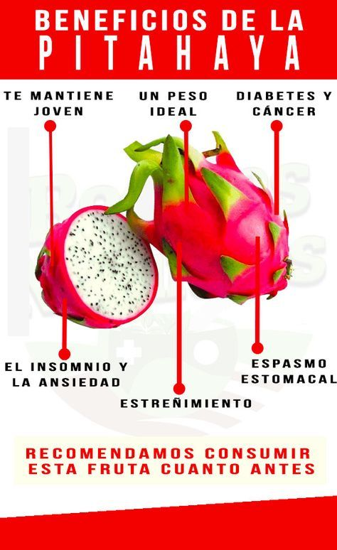 pitaya amarilla tabla nutricional
