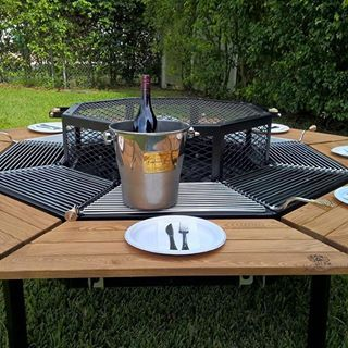 The All In One Ultimate Bbq Grill Table Grill Firepit Grill Jag Grills In 2020 Fire Pit Fire Pit Grill Bbq Grill